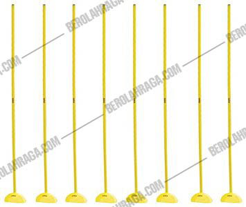 Slalom Pole Indoor  Dome Cone and Pole (Isi 6 set)